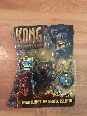 KING KONG CREATURES OF SKULL ISLAND Action Figure Playset (Playmates, 2005) NEW