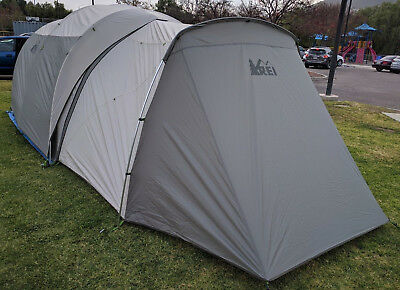 REI Kingdom 6 Person with Garage USED ONCE Two Room 3 Season 2016 Family Cabin & 2016 REI Kingdom 8 Person Family Camping Luxury Tent Retail $530 ...
