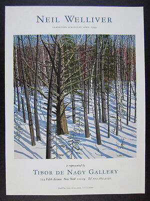 1999 Neil Welliver dead pine painting NYC exhibition vintage print Ad