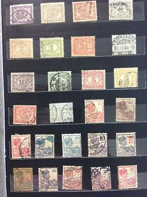Old collection of Netherlands  Indie stamps, 2 x scans