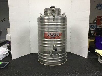 Large Cecilware Hot Coffee Insulated Stainless Steel Dispenser Holds 5 Gallons