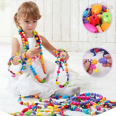 Wishtime Pop-Arty Beads Snap-Together Fashion Kit Fun for Kid Necklace and Br...