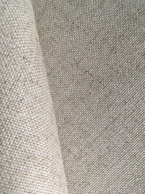 Natural Oatmeal 25 count Zweigart Floba Linen mix evenweave fabric 50 x 70 cm
