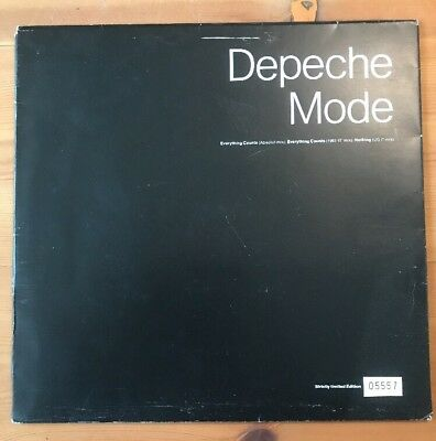 """Depeche Mode - Everything Counts - 10"""" Vinyl Strictly Limited Edition Rare"""