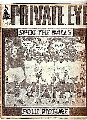 Private Eye Mag # 201  29 August 1969  Manchester United  Charlton  Best  Stiles