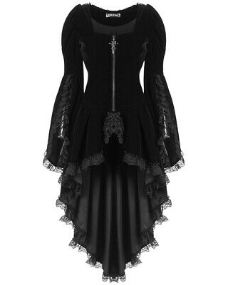 8033c324fd03b DARK IN LOVE femmes gothique Veste velours noir queue de pie lacets VAMPIRE