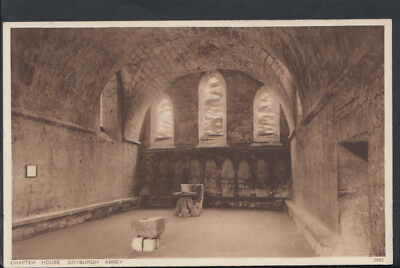 Scotland Postcard - Chapter House, Dryburgh Abbey     RS6972