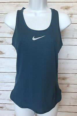 NEW Nike Aeroreact Womens XS Racerback Tank Top Blue Running Reflective MSRP $80