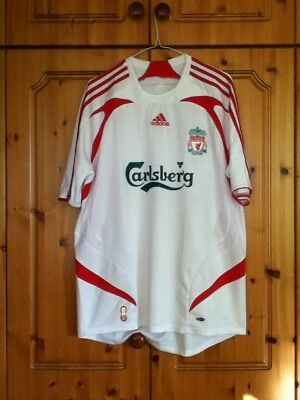Liverpool Football Club Away Jersey 2007 to 2008 Large Adult Adidas Soccer Shirt