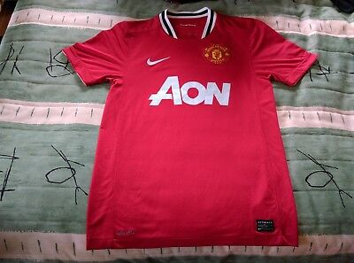 Manchester United Football Club Home Jersey 2011 to 2012 Small Adult Nike Soccer