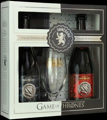 Ommegang Game Of Thrones Valar Morghulis/Valar Dohaeris Gift Set With Glass