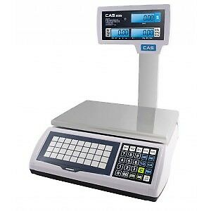 CAS, S2JR60LP, Price Computing Scale with LCD Display & Pole, 60 lb x 0.02 lb