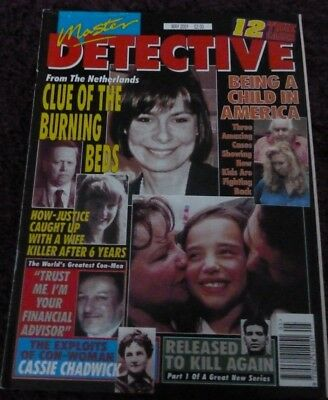 Master Detective Monthly Magazine*may 2001*true Crime 12 Cases Stories