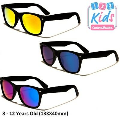 Stylish Kids / Children's Sunglasses - Mirrored Lens 8-12 Years old Boys / Girls