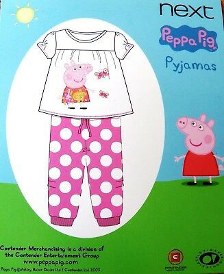 Bnwt Next Baby Girls Peppa Pig Pyjamas 18-24 Mths New Pj's Pink Christmas Top