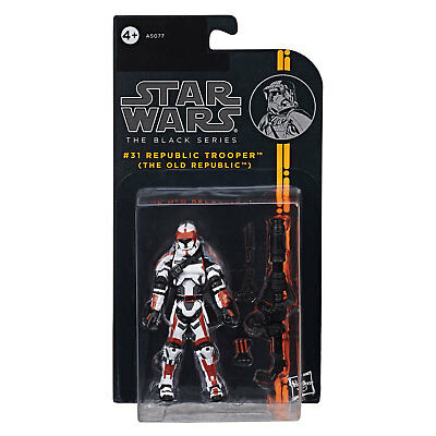 "Star Wars The Black Series 3.75"" #31 REPUBLIC TROOPER (The Old Republic) Figure"
