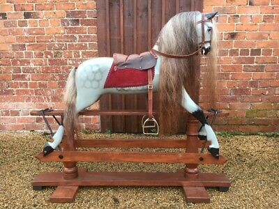Fully Restored Antique F H Ayres Rocking Horse Ideal Gift Shipping Worldwide