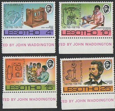Lesotho stamps.  1976 The 100th Anniversary of the Telephone MNH