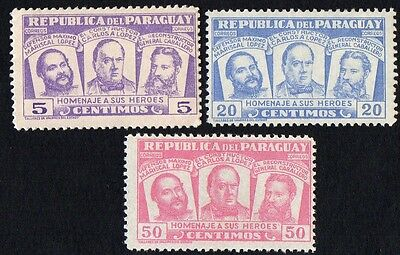 Paraguay.   1954 National Heroes.  MLH
