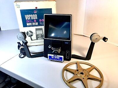 Vintage Vernon 808 Dual Deluxe 8mm Movie Film Viewer Editor