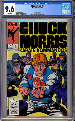 Chuck Norris #1 High Grade Ditko Art First Issue TV Marvel Comics 1987 CGC 9.6