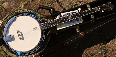 NEU Deering John Hartford Bluegrass 5S Banjo mit Case Made in USA Holz Tonering