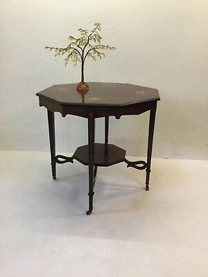 Antique Exhibition Quality Arts & Crafts Inlaid Table: Yellow Irises