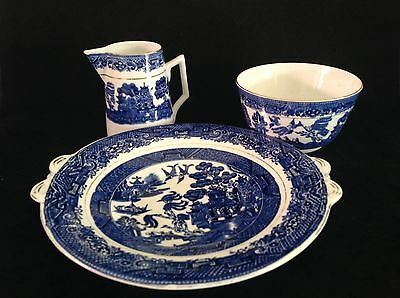 Tuscan China Made In England 3 Pieces, Serving Plate, Bowl & Milk Jug