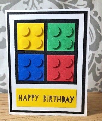 Handmade Birthday Card Lego Card Funny Kids Birthday Card Name