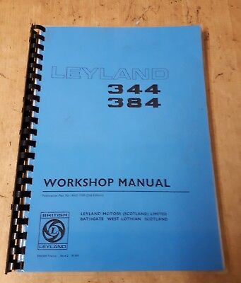 Leyland 344 And 384 Tractor Workshop  Manual.