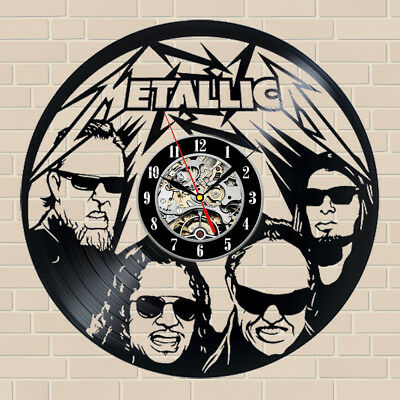 Metallica_Exclusive Wall Clock Made Of Vinyl Record_Gift_Decor