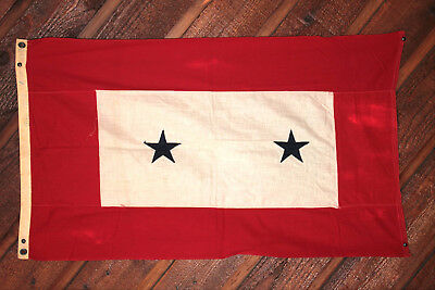 Wwii 2 Ft X 3 Ft, 2 Star Son In Service Flag Very Rare & In Very Good Condition