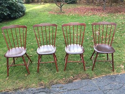 Hand paintedWindsor chairs - by David Smith - Antique Reproduction - set of 4