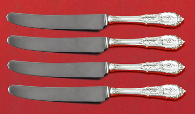 """Rose Point by Wallace Sterling Silver Fruit Knife Set 4-Piece Custom 7"""" HH WS"""