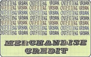 Urban Outfitters Merchandise Credit Gift Card -RRP £112