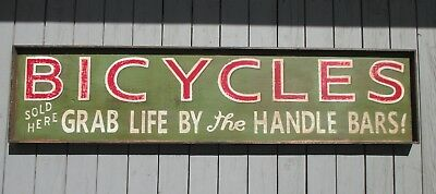 Vintage Reproduction Bicycle Advertising Trade Sign