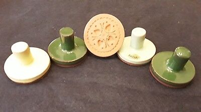 Lot of 5 vintage Rycraft Cookie Stamp Molds Hearts Flower Butterfly Stocking +