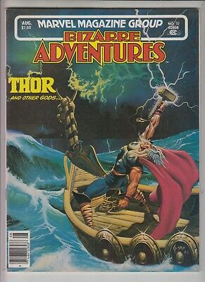 THOR AND OTHER GODS.. in BIZARRE ADVENTURES #32  Marvel Magazine 1982