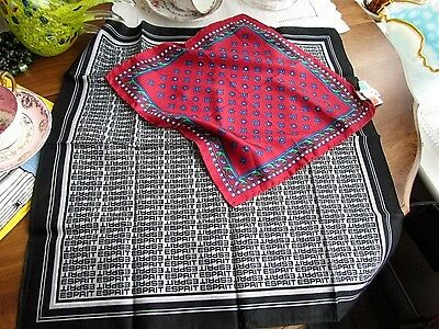 Silk Twill lot Hankies Men's Italy Abstract pocket squares New Cotton ESPRIT Exc