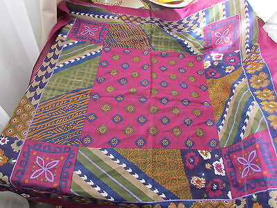 Wool Scarf Vera Lot Abstract Native American Indian primitive Motif  Quilt Japan