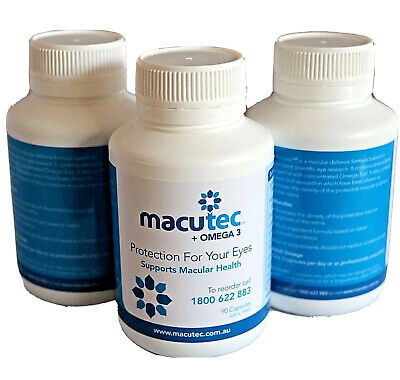 Macutec + Omega 3 Protection for your eyes 90's X 3