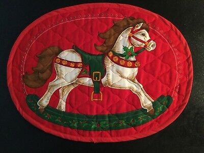 Rocking Horse Placemats for Christmas * Set of 2