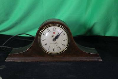 Vintage General Electric Hump-Back Mantel Clock Camel-Back Antique Table Top