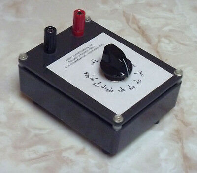 Resistor+Rheostat In Metal Box, 450 To 1200 Ohms Variable, 25 Watts .18 Amps
