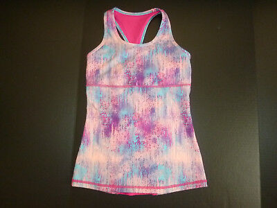 EXCELLENT! Two (2) Ivivva Girls Tops Sz 12 PINK Multicolor & GREEN/Grey