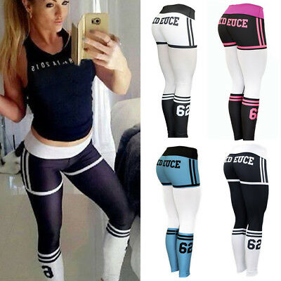Women Casual Pant Yoga Fitness Leggings Running Gym Stretch Sports Pants Trouser