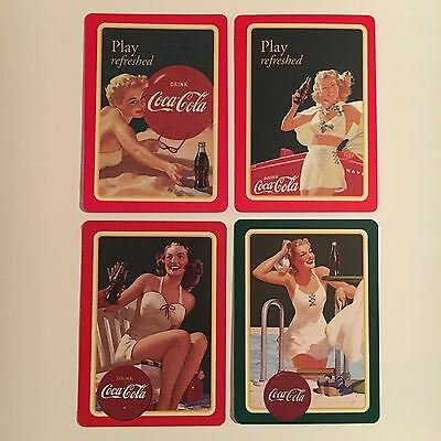 (12) single COCA COLA playing cards w/ (4) different PIN UP girls - 2001 - NEW