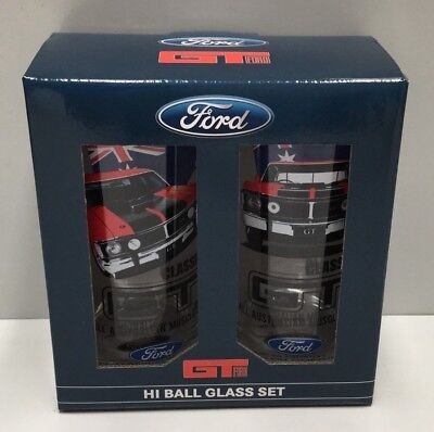 Ford Falcon Xw Xy 351 Gt V8 Muscle Car Tall Glass Drinking Glasses V8 Supercars
