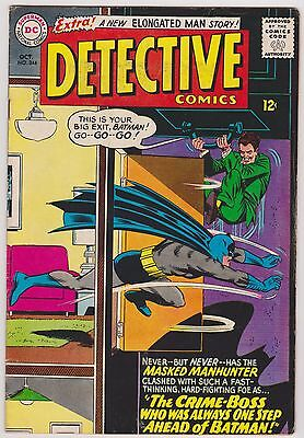 Detective Comics #344 with Batman, Robin & Elongated Man, Fine - VF Condition'
