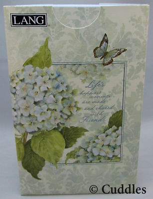Blue Hydrangea Pocket Address Book Lang Names Cell Phone Email NEW